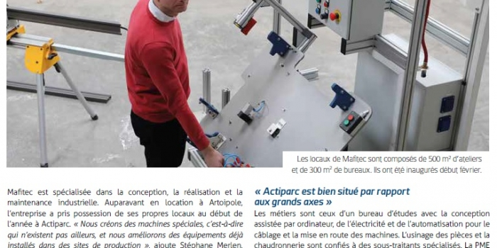 MAFITEC DANS GRAND ARRAS MAGAZINE